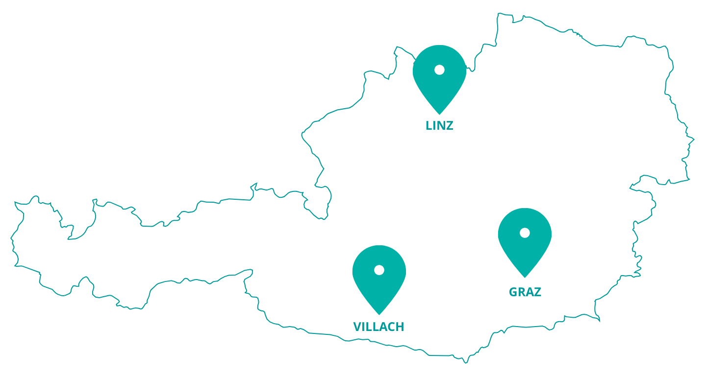 Map of Austria with SAL-sites